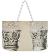 Byzantine Capitals From Columns In The Nave Of The Church Of St Demetrius In Thessalonica Weekender Tote Bag