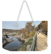 C And O Canal Above And Potomac River Below Weekender Tote Bag