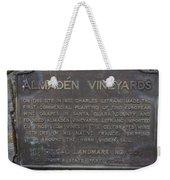Ca-505 Almaden Vineyards Weekender Tote Bag