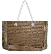 Ca-670 Mariposa County Courthouse Weekender Tote Bag