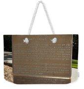 Ca-908 Filoli Fight-love-live Historical Marker Weekender Tote Bag