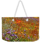 Ca Poppies And Goldfields And Lacy Phacelia And Sage In Antelope Valley Ca Poppy Reserve-california Weekender Tote Bag