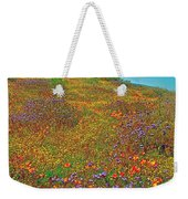 Ca Poppies And Goldfields And Lacy Phacelia In  Antelope Valley Ca Poppy Reserve-california  Weekender Tote Bag