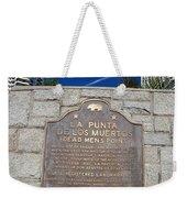 Ca57-la Punta De Los Muertos Dead Mens Point Weekender Tote Bag