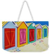 Cabana Row - Colorful Beach Cabanas Weekender Tote Bag