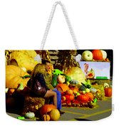 Cabbage Patch Kids - Giant Pumpkins - Marche Atwater Montreal Market Scene Art Carole Spandau Weekender Tote Bag
