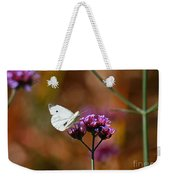 Cabbage White Butterfly In Fall Weekender Tote Bag
