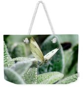 Cabbage White Butterfly In Flight Weekender Tote Bag