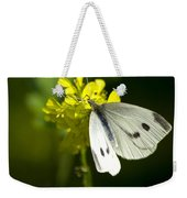 Cabbage White Butterfly On Yellow Flower Weekender Tote Bag