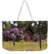 Cabin And Wildflowers Weekender Tote Bag