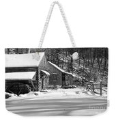 Cabin Fever In Black And White Weekender Tote Bag