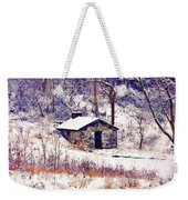 Cabin In The Snow Weekender Tote Bag