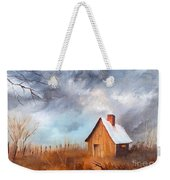 Cabin With Fence Weekender Tote Bag