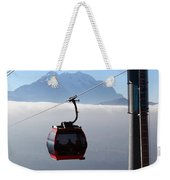 Cable Car Above The Andes Weekender Tote Bag