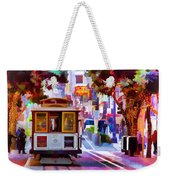 Cable Car At The Powell Street Turnaround Weekender Tote Bag