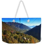 Cableway Over The Mountain Weekender Tote Bag