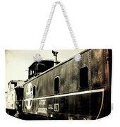 Caboose - Bw - Vintage Weekender Tote Bag