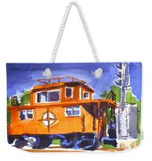 Caboose With Silver Signal Weekender Tote Bag by Kip DeVore