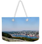 Cabot Tower Overlooking The Port City Of St. John's Weekender Tote Bag