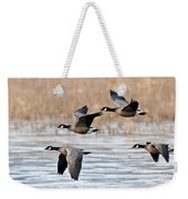 Cackling Geese Flying Weekender Tote Bag