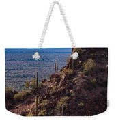 Cacti Covered Rock At Tucson Mountains Weekender Tote Bag