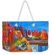 Cacti With Red Rocks And Rr Trestle Weekender Tote Bag