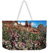 Cactus Flowers And Red Rocks Weekender Tote Bag