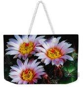 Cactus Flowers With Texture Weekender Tote Bag