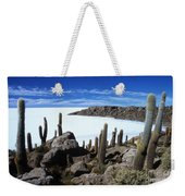 Cactus Forest And Salar De Uyuni Weekender Tote Bag