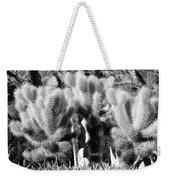 Cactus In Bw Weekender Tote Bag