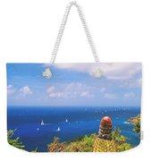 Cactus Overlooking Ocean Weekender Tote Bag