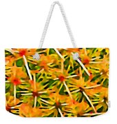 Cactus Pattern 2 Yellow Weekender Tote Bag by Amy Vangsgard