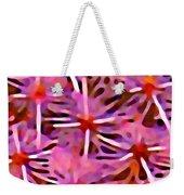 Cactus Pattern 3 Pink Weekender Tote Bag by Amy Vangsgard