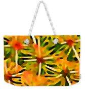 Cactus Pattern 3 Yellow Weekender Tote Bag by Amy Vangsgard