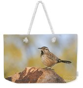 Cactus Wren On Rock Weekender Tote Bag