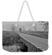 Cades Cove Black And White Weekender Tote Bag by Frozen in Time Fine Art Photography