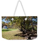 Cades Cove House And Split Rail Fence Weekender Tote Bag