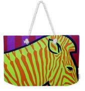 Cadmium Zebra Weekender Tote Bag