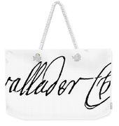 Cadwallader Colden (1688-1776) Weekender Tote Bag