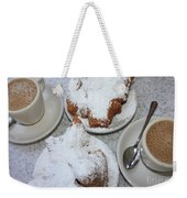 Cafe Au Lait And Beignets Weekender Tote Bag by Carol Groenen