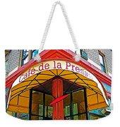 Cafe De La Presse In San Francisco-california  Weekender Tote Bag