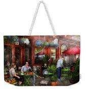 Cafe - Hoboken Nj - A Day Out  Weekender Tote Bag