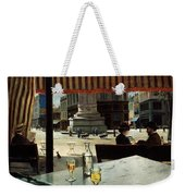 Cafe In A City Square Weekender Tote Bag