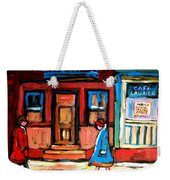 Cafe Laurier Montreal Weekender Tote Bag