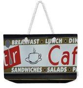 Cafe Time Weekender Tote Bag