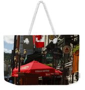 Cafes And Bars Along Crescent Street Weekender Tote Bag