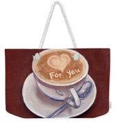 Caffe Latte Weekender Tote Bag
