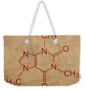 Caffeine Molecule Coffee Fanatic Humor Art Poster Weekender Tote Bag