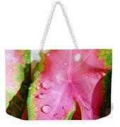 Caladium Leaf Weekender Tote Bag