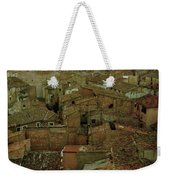 Calahorra Roofs From The Bell Tower Of Saint Andrew Church Weekender Tote Bag